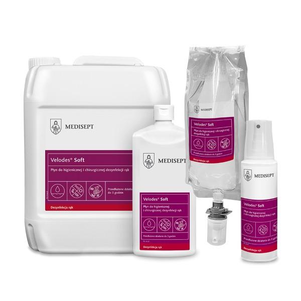 MEDI VELODES SILK 5L płyn dezynfekcyjny do higienicznej i chirurgicznej dezynfekcji rąk
